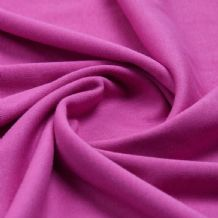 Cerise - Plain 100% Cotton Interlock Double Jersey